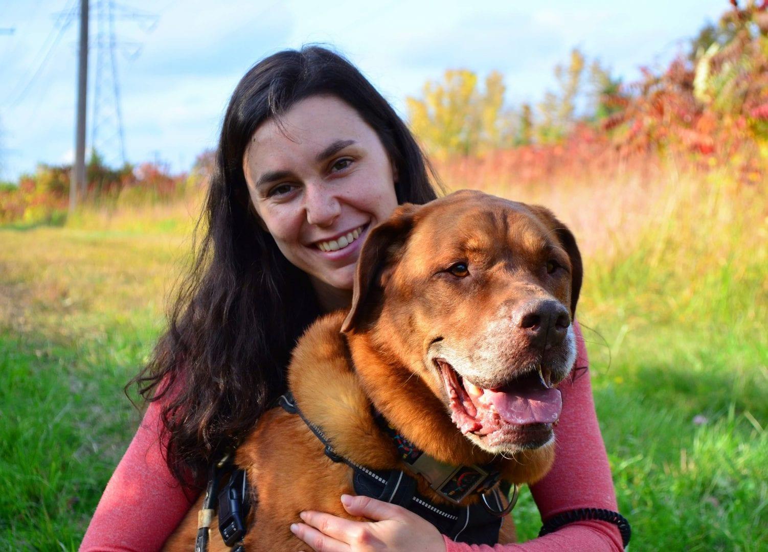 Josianne avec son chien